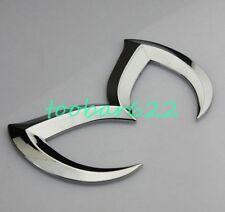 3D Silver Bat Batman Metal Car Emblem Rear Trunk Sticker For mazda 3 5 6 tR80