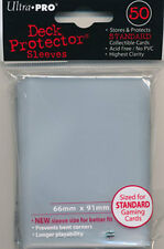 10 x PACKS of Magic, Pokemon, WOW sized Ultra Pro CLEAR Card Sleeves 50ct NEW!