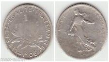 1 Franc Argent 1906  **** RARE ****