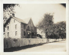 1920s CABINET PHOTO ROBESONIA PA/PENNSYLVANIA STONE HOME & PICKET FENCE