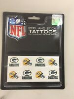 C2) Green Packers Team Tattoo Pack NFL New
