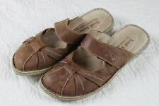 Josef Seibel Brown Sandals Size 8.5 Euro 40 Closed Toe Leather