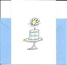 Happy Birthday Birth-daisy White Daisy Cake Hallmark Greeting Card - Set of 2