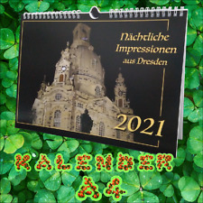Dresden bei Nacht Kalender 2021 A3 Kalender 2021 Dresdner nächtl. Impressionen