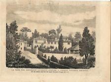 Stampa antica CASATENOVO Casa Sirtori Brianza Lecco 1874 Old antique print
