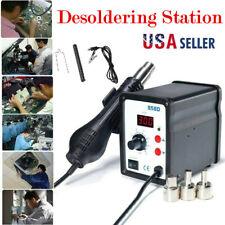 858D Rework Station, 700W SMD Soldering with Hot Air Heat Gun Desoldering Tool