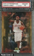 2003-04 UD Redemption Freshman Season LeBron James RC Rookie PSA 10