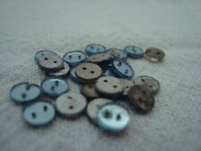 24 Small Vintage Glass Buttons / Embellishments