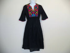 Missess Black Flamenco Dress. Size 2. 100% Cotton.