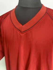 FOOTJOY V-Neck Short Sleeve Red Wind Rain Golf Pullover - Large
