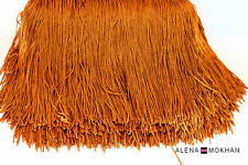 "1 yard 6"" Brown Chainette Fringe Dance Costume Trim"