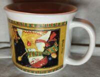 Susan Winget Snowman Mug Misprint upside down. A dear friend knows how to warm