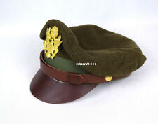 WW2 US Army Aircorps Military Officers Pilots Visor Crusher Hat Cap