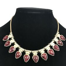 Kendra Scott Willow Choker Necklace Bordeaux Tiger's Eye Gold Plated Adjustable