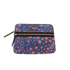 RRP €125 MARC JACOBS Clutch Bag Laptop Case Large Stars Pattern Padded Zipped
