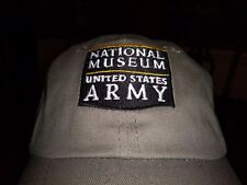 National Museum United States Army Ball Cap in Light Gray Pewter Adult Size NEW