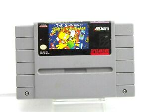 The Simpsons: Bart's Nightmare (Super Nintendo SNES 1992) Tested & Working