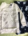New GapKids Disney Frozen Fleece 2 Piece Long Sleeve Pajama Set Sz 6-12M-NWT