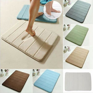 4 Size Bath Mats Bathroom Carpets Absorbent Soft Memory Foam Non-slip Rug Mats