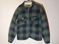 Men's Cabela's Green Buffalo Plaid Fleece Sherpa Lined Jacket Size 2XL *VGC