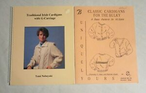 2 Machine Knitting Patterns Books Classic & Irish Cardigans Sweaters Nobuyuki