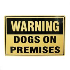 3x Warning Dogs On Premises Sign Notice Safety Private Pet Control 300*200 Metal