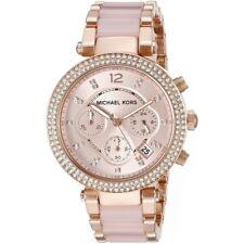 Horloge Femme Michael Kors Parker MK5896 Chronographe Acier Rose Chronographe