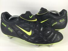 Nike Zoom Air Soccer Cleats SG Black Leather Volt Mens Size 11 Rare 117262-071