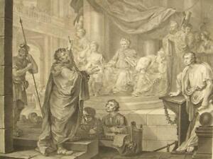 William Hogarth; Paul & Felix antique copper etching;1752