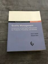 Introduction to Total Quality Management for Production Processing Services Book