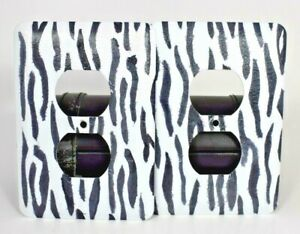 TayMac - Zebra Print Metal Wall Outlet Covers (4 pack)