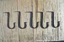 Set of 5 large twisted wrought iron medieval hanging hooks dresser hook MM3