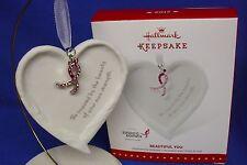 Hallmark Ornament Beautiful You 2015 Heart Angel Wings Susan Komen Breast Cancer