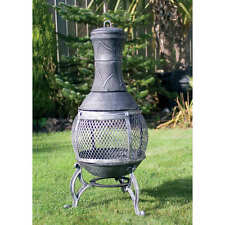 89cm Cast Iron Constructed steel barbecue Chimenea Garden Patio Heater bbq