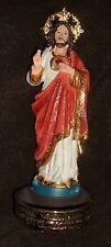 SACRED HEART of JESUS ROSARY HOLDER STATUE 9 inch NIB Corazon de Jesus