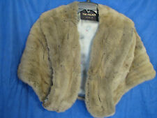 Vintage REAL FUR STOLE JACKET COAT Capelet MINK/RABBIT? Taupe/Gray/Brown DAMAGED