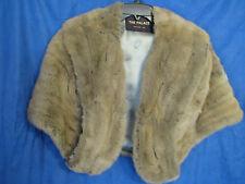 Vintage REAL FUR STOLE JACKET COAT Capelet MINK/RABBIT? Taupe/Gray/Brown DAMAGED