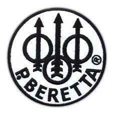 Beretta Firearms Gun Embroidered Iron On Patch Applique Pistol logo Rifle Weapon