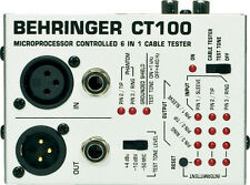 Behringer CT100 Microprocessor-Controlled 6-in-1 Cable Tester, New!