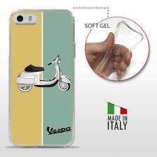 iPhone 5 5S SE TPU CASE COVER PROTETTIVA TRASPARENTE VINTAGE Vespa Retro