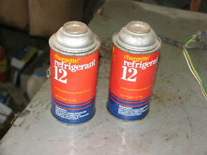 """2 Refrigerant R12  Cans """" Usa made Chargette genuine"""