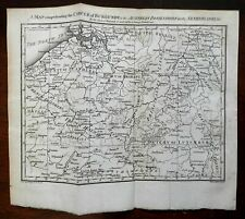 Austrian Netherlands Circle of Burgundy Luxembourg 1792 Neele engraved map