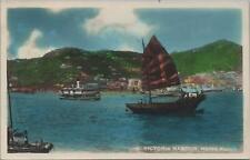 RPPC Postcard Victoria Harbour Hong Kong China