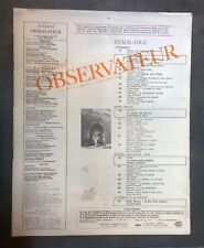 Insolite. Le Nouvel Observateur n°327, février 1971. Sans couverture