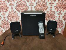 Powered Technika Subwoofer Amplifier Model 21SP05 Bookshelf + 2 Original Speaker
