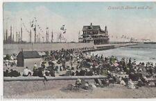 Lowestoft Beach and Pier1906 Postcard, B431
