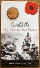 Australia Remembers  .20c Coin Army - On Original Card 2013 ✔️ Twenty cents