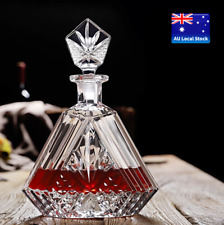 French Palace Design Glass Whisky Decanter Wine Carafe Bar Bottle Clubing 700ml