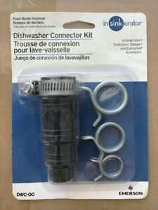 Insinkerator Dishwasher Connector Kit Garbage Disposal Part DWC-00 Black New