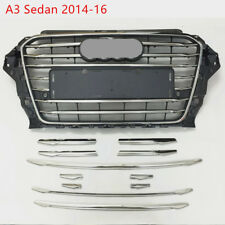 Stainless Steel Front Bumper Air Grille Cover Trim For Audi A3 8v Sedan 2014-16